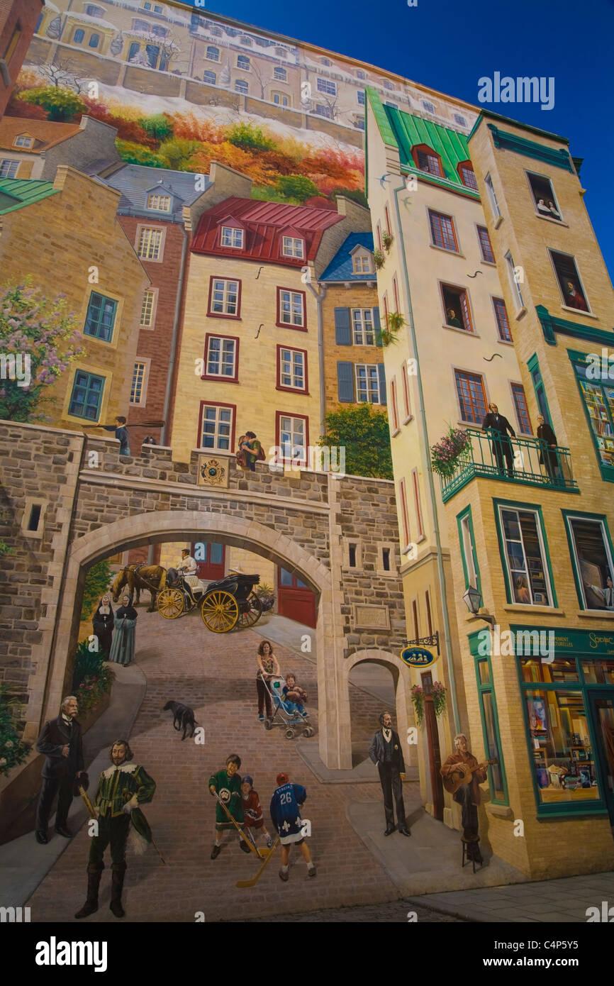 La Fresque Des Quebecois Mural Old Quebec Quebec City Quebec