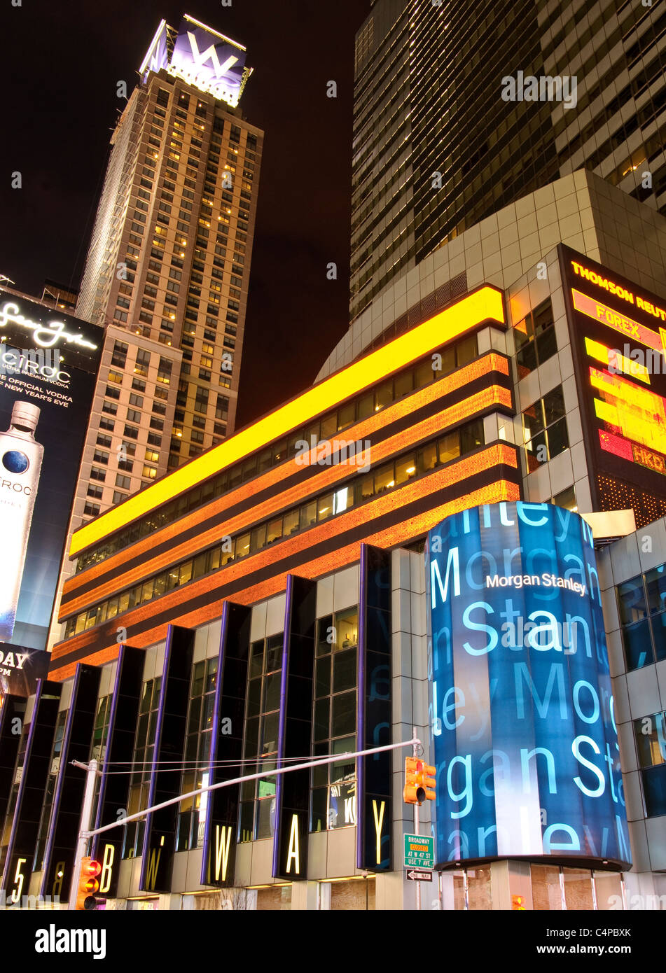 Times Square, 42nd Street, New York City, 2011 Stock Photo