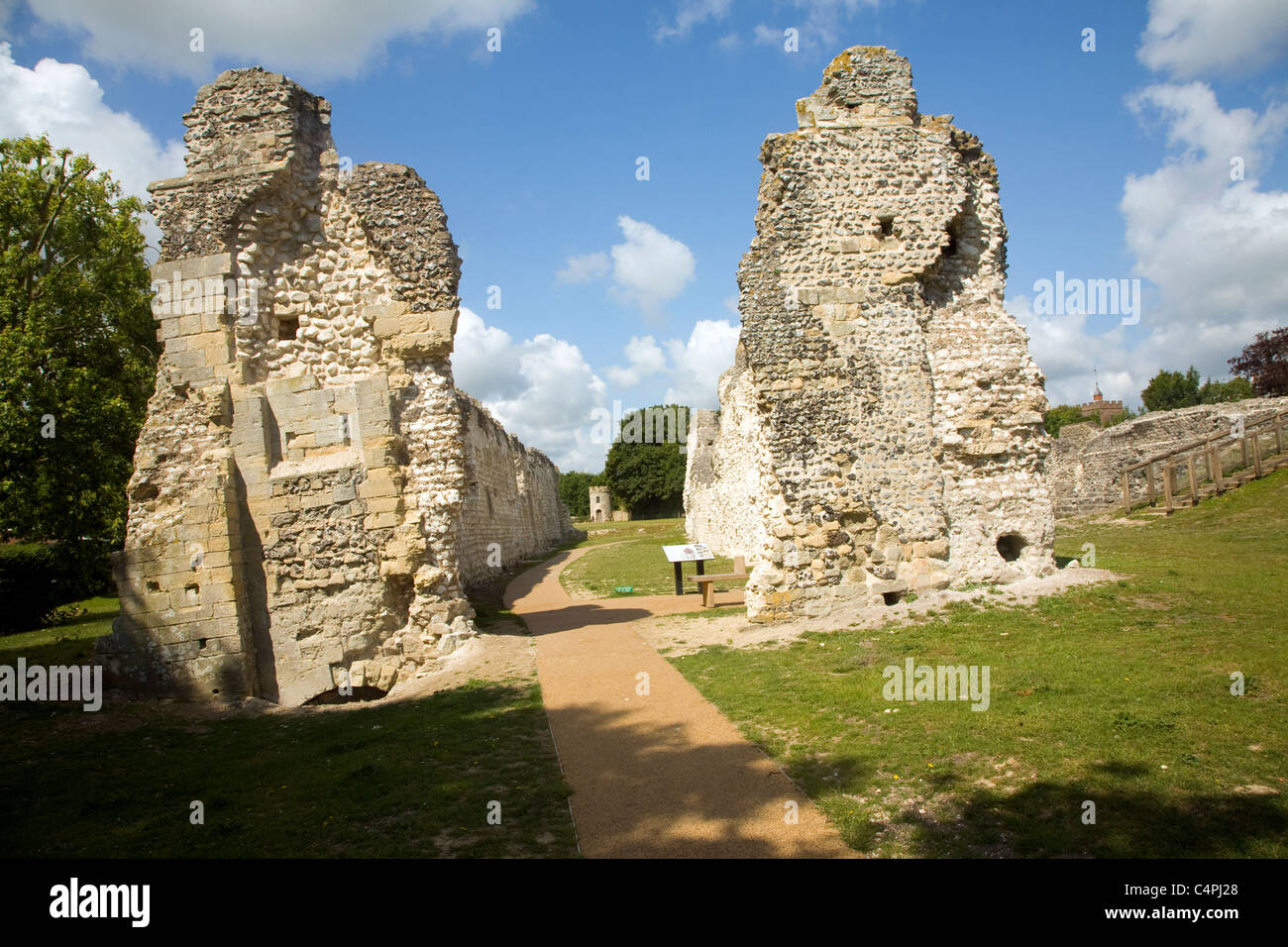 Ruins of Saint Pancras priory, Lewes, East Sussex, England - Stock Image