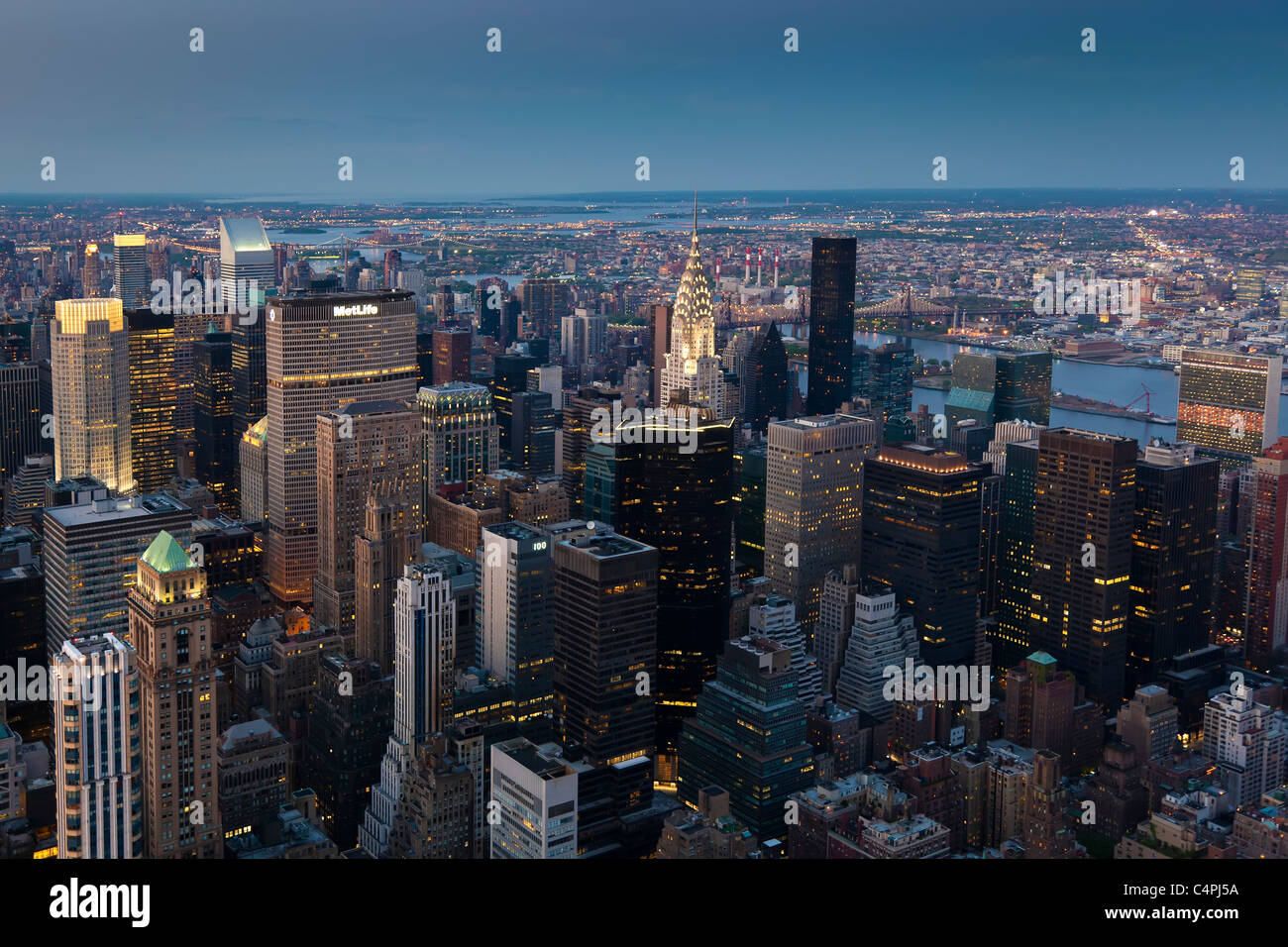 Skyscrapers, Manhattan, New York, USA - Stock Image