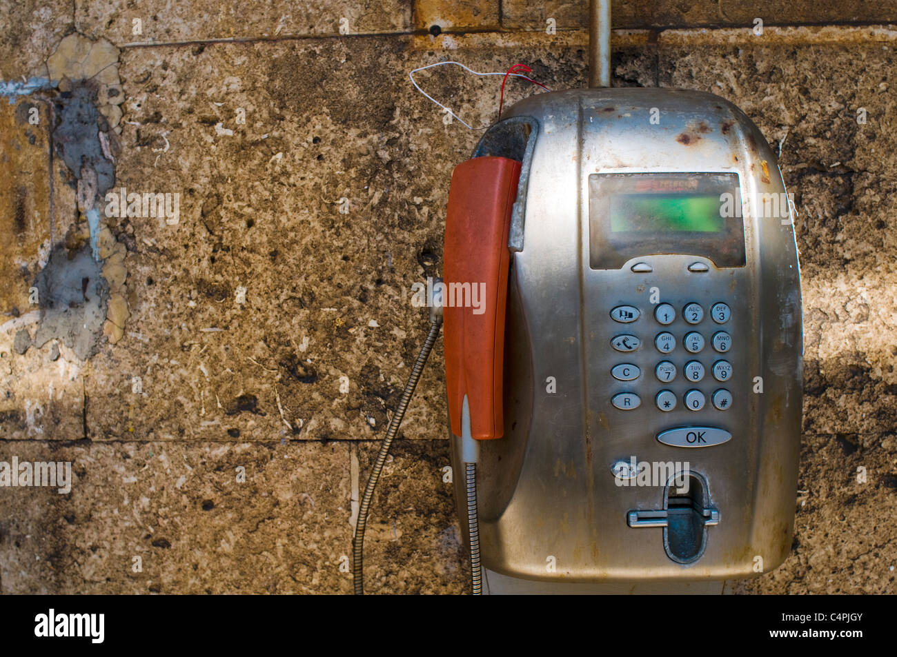 Payphone, Cinque Terre, Italy - Stock Image
