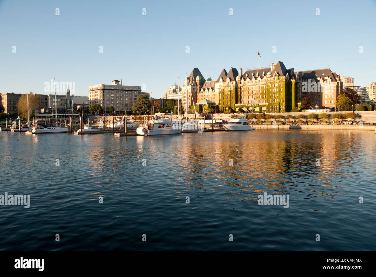 Inner Harbour and Empress Hotel. Victoria, Vancouver Island, British Columbia, Canada. - Stock Image