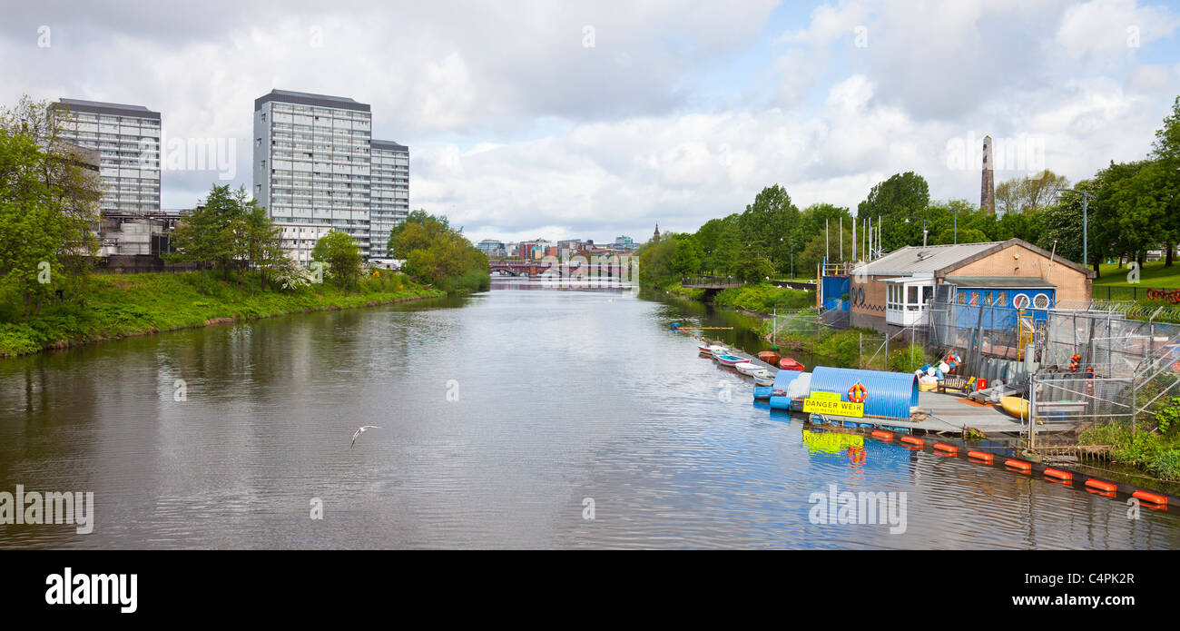 Headquarters in Glasgow Green of Glasgow Humane Society, a prevention, rescue and recovery group on the River Clyde - Stock Image