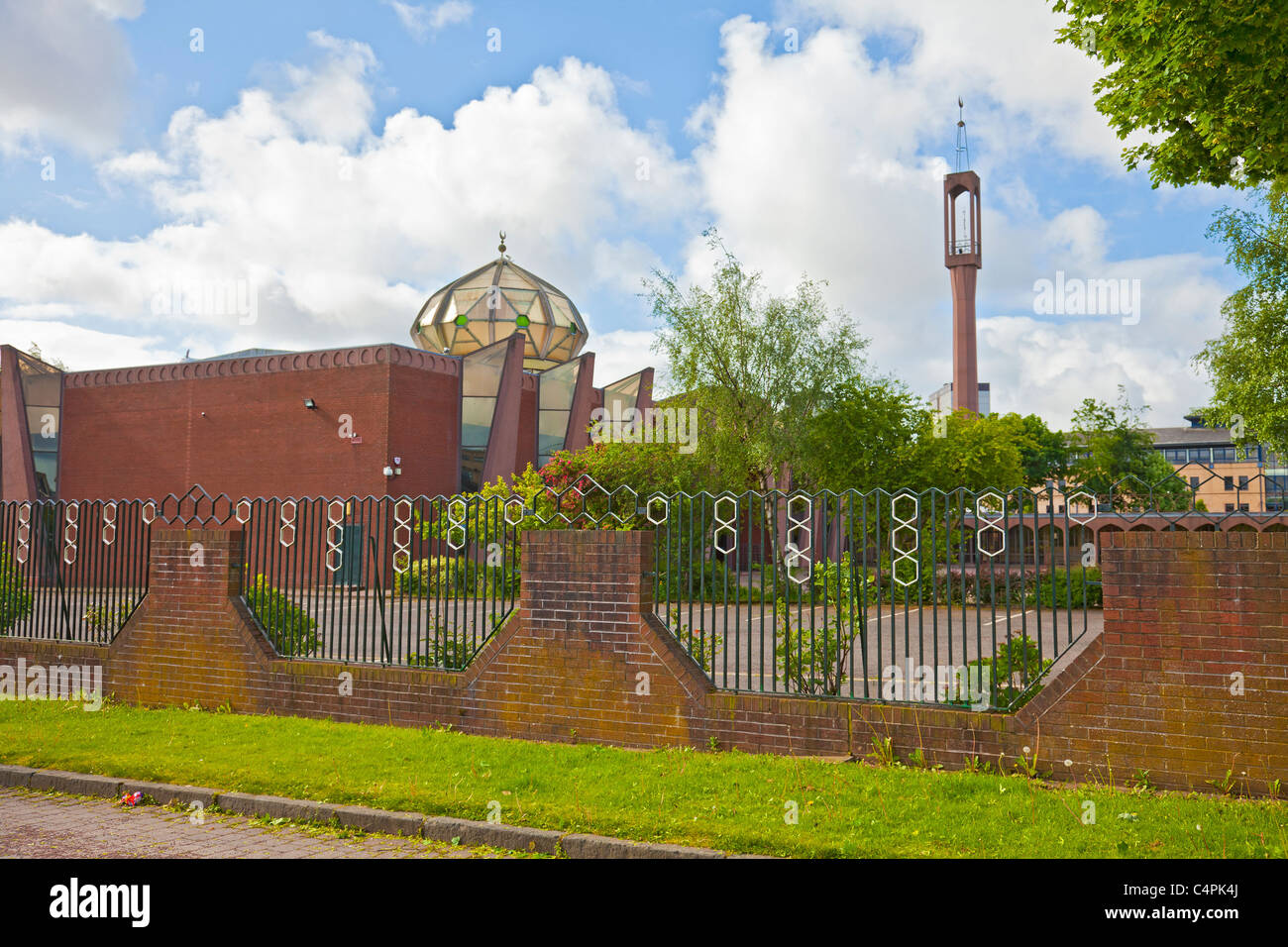 Glasgow Central Mosque and Islamic Centre, exterior. Gorbals, Glasgow. - Stock Image