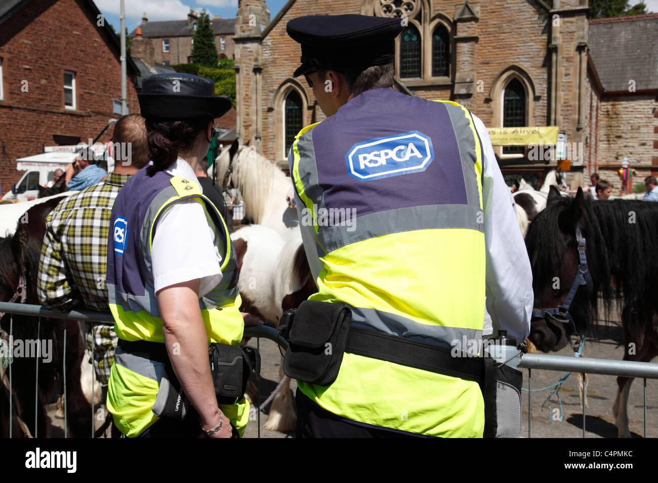 The RSPCA monitoring events at the Appleby Horse Fair, Appleby-In-Westmorland, Cumbria, England, U.K. - Stock Image