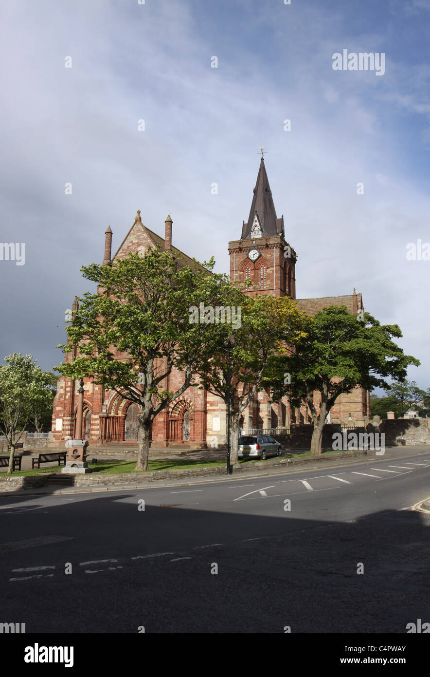 St Magnus Cathedral Kirkwall Orkney Scotland May 2011 - Stock Image