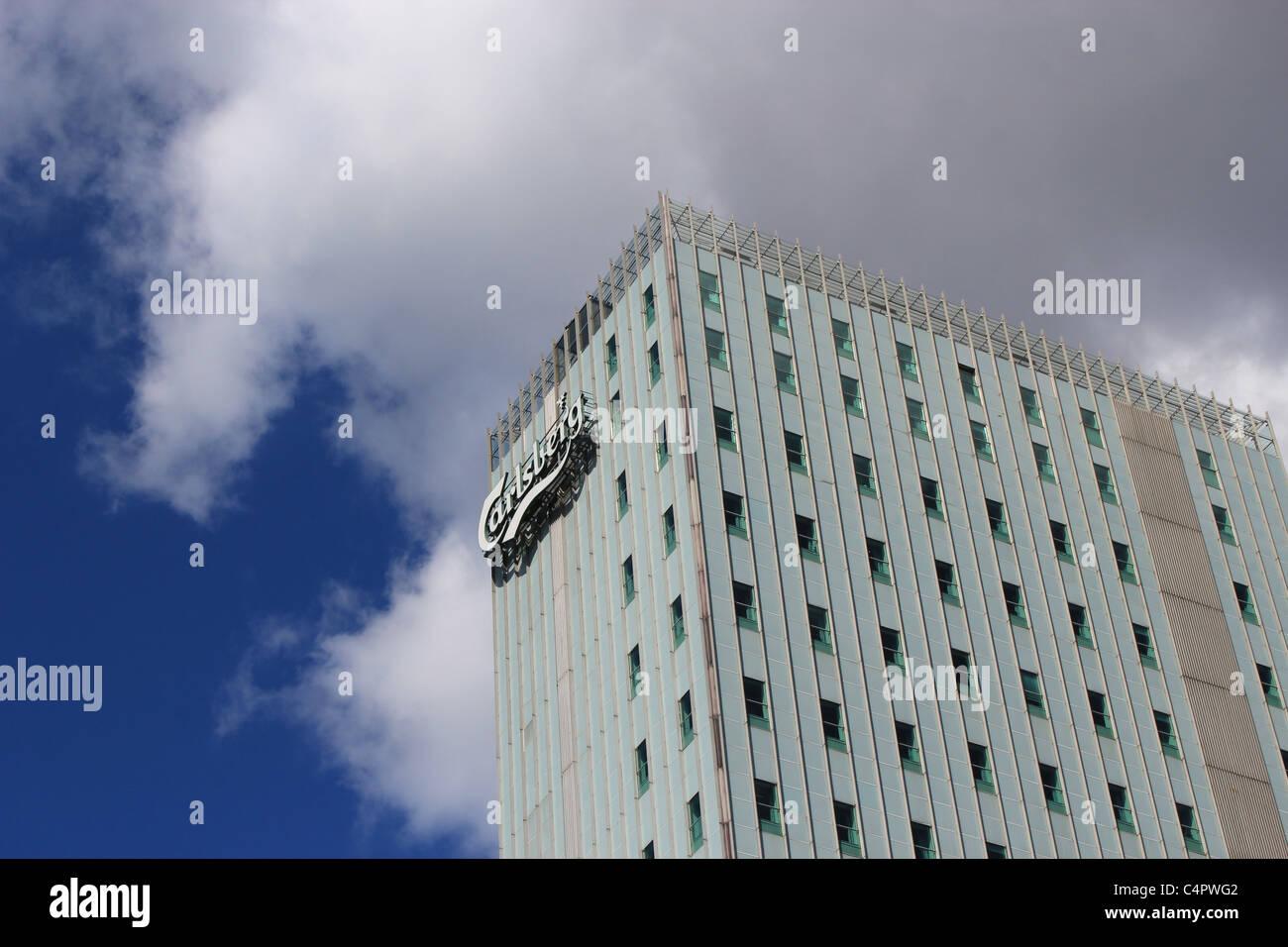 Carlsberg Group headquarters at Valby, Copenhagen. - Stock Image