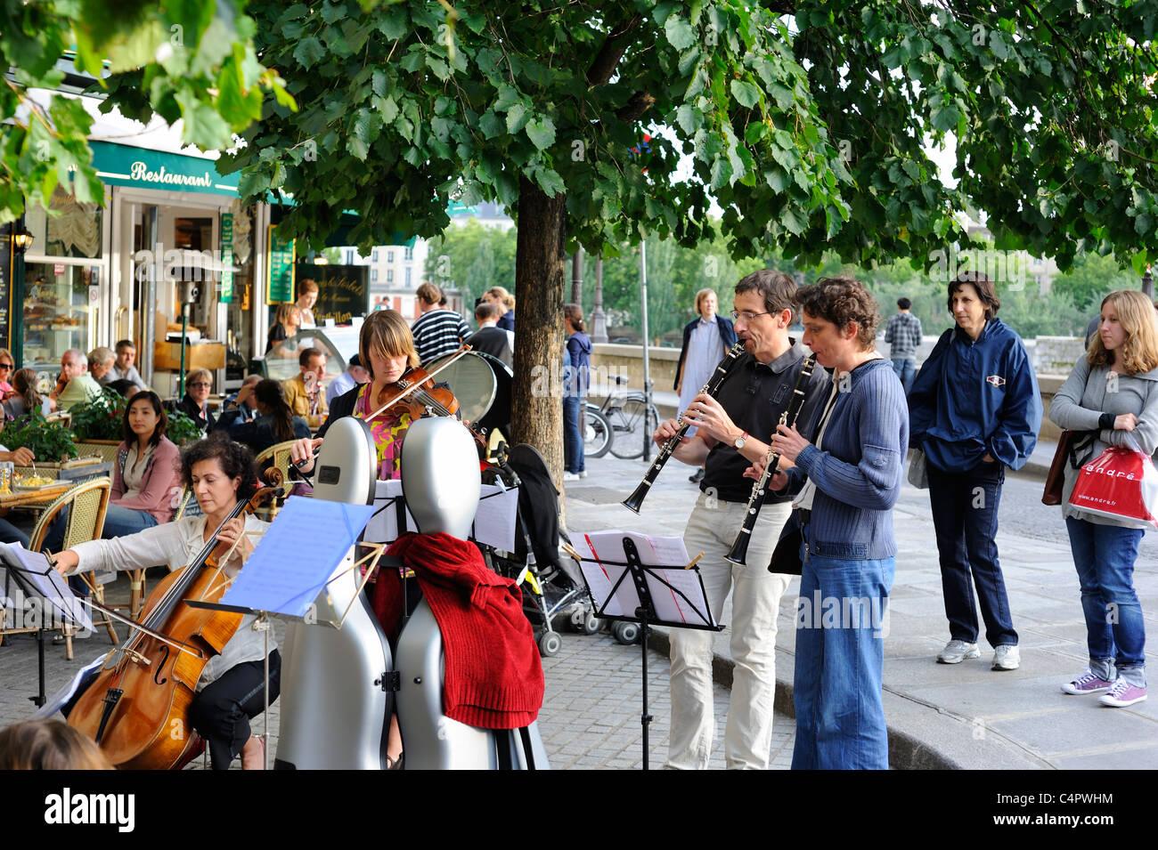 Paris France World Music Day 2011 at ILe Saint Louis - Stock Image