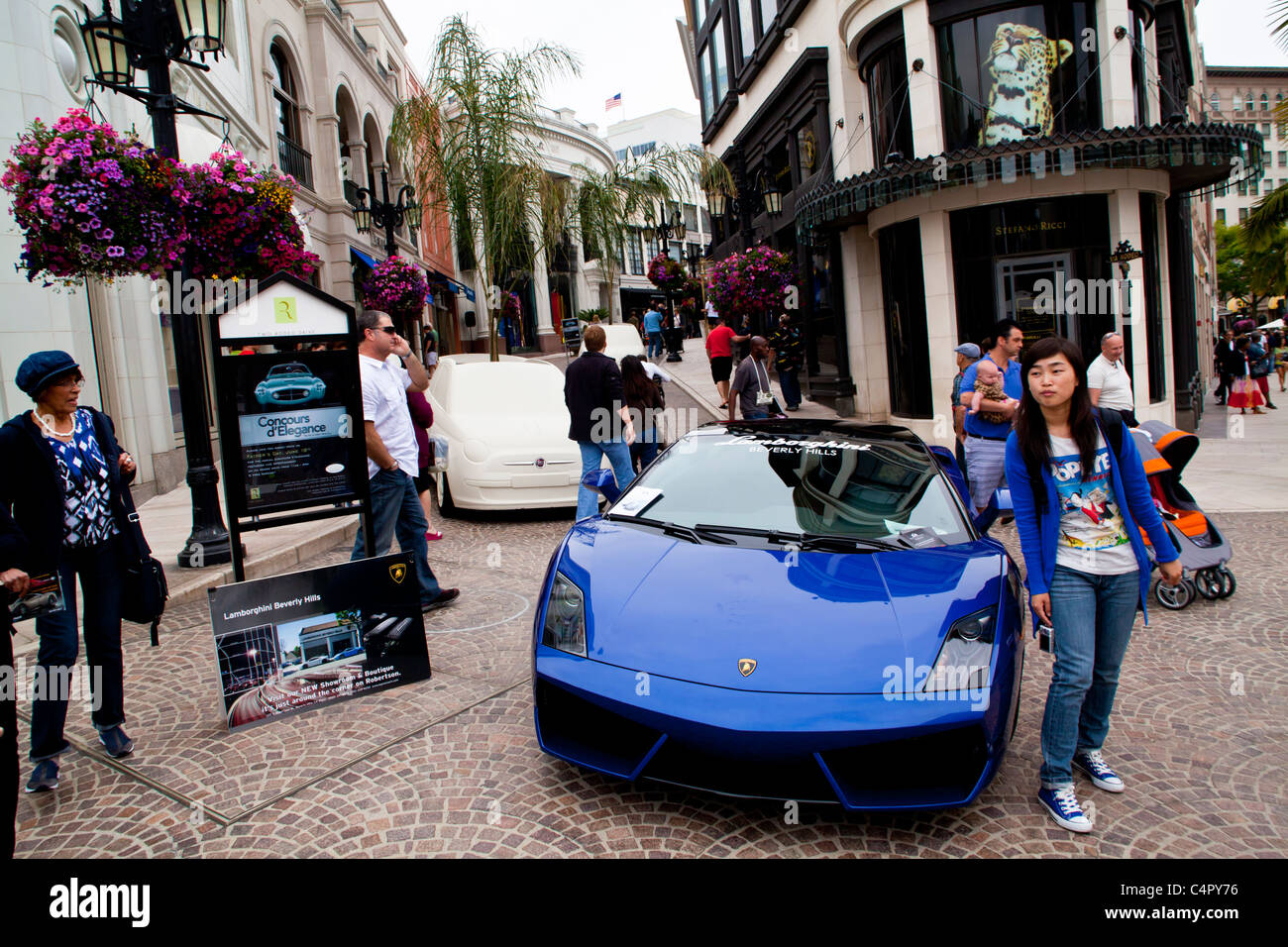 Shops On Via Rodeo Off Of Rodeo Drive In Beverly Hills California In 2011    Stock