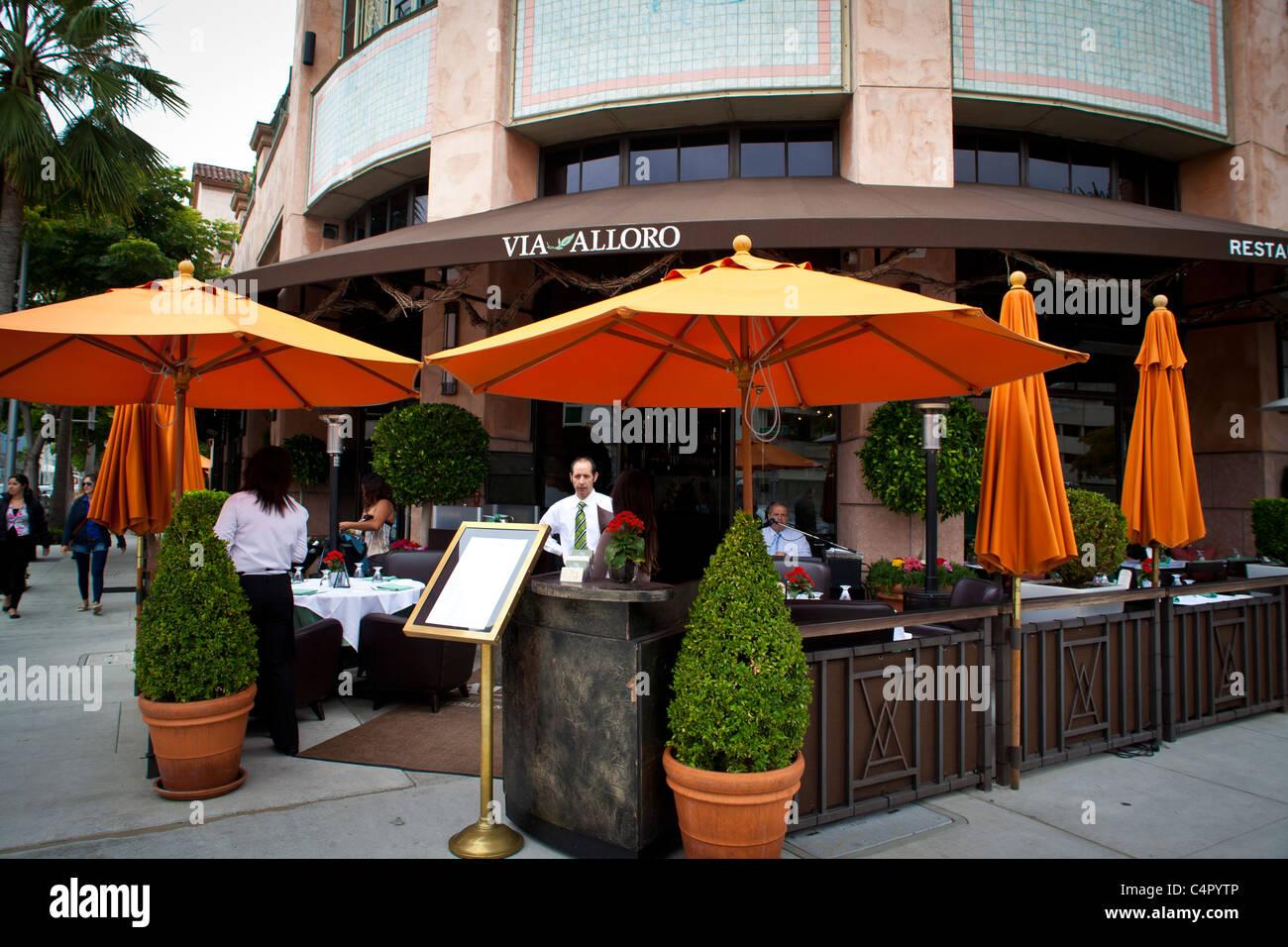 Via Alloro Restaurant In Beverly Hills California Near