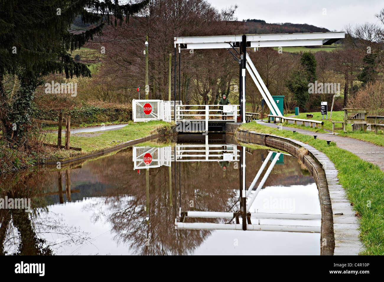 Monmouthshire and Brecon Canal, Talybont-on-Usk, Brecon Beacons National Park, Wales - Stock Image