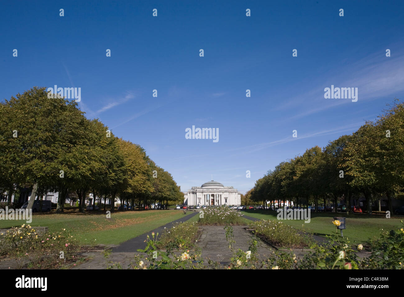 View to Art Gallery, Port Sunlight Village, Wirral, Cheshire, England - Stock Image