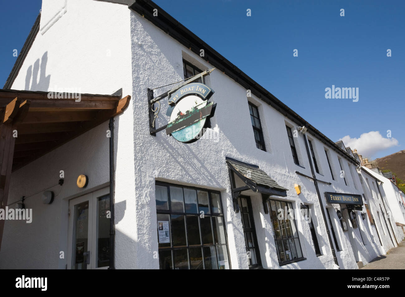 Ferry Boat Inn, Ullapool, Wester Ross, Northern Highlands, Scotland - Stock Image