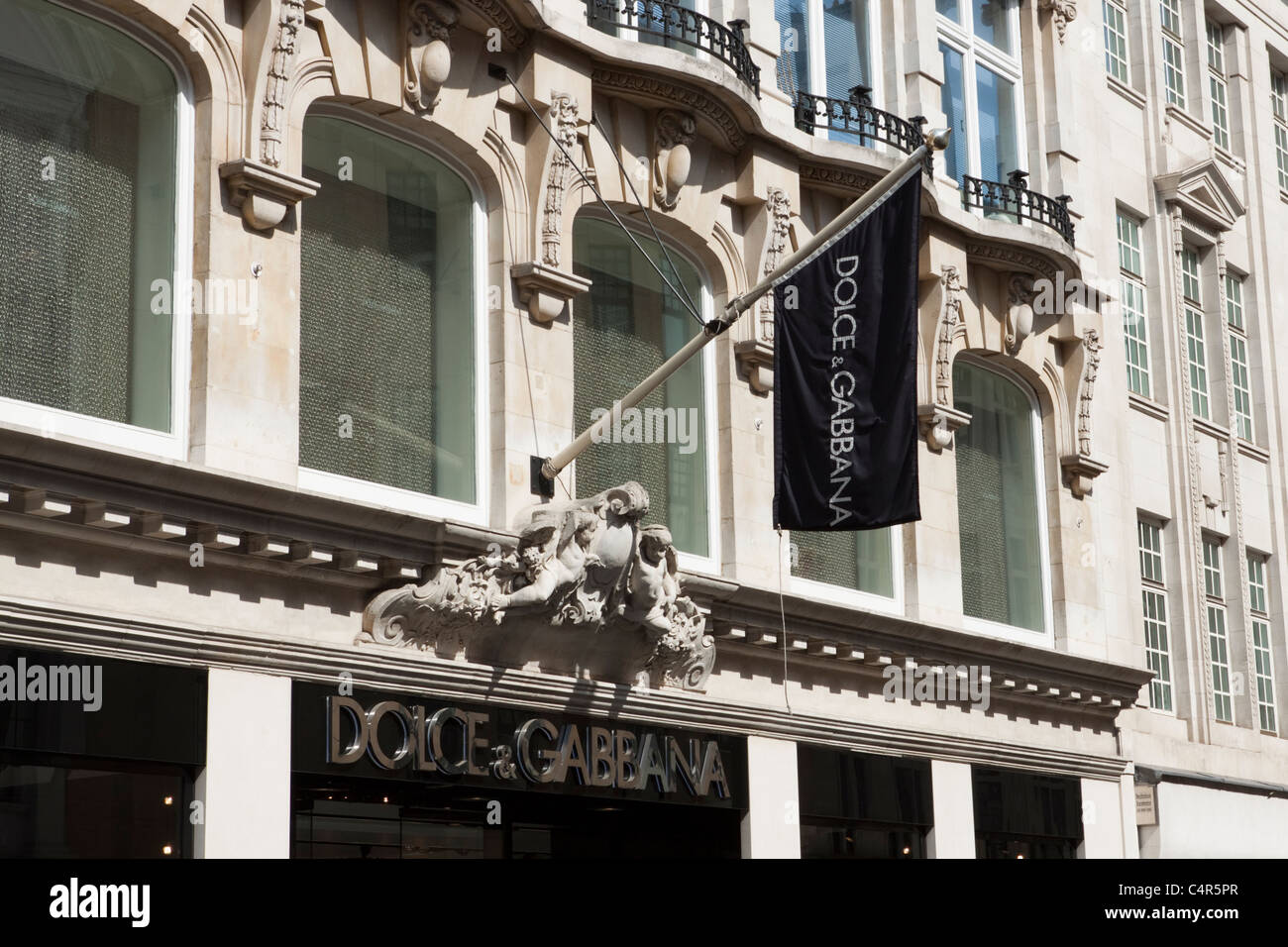 Dolce & Gabbana store/shop front, Old Bond Street, London, England - Stock Image