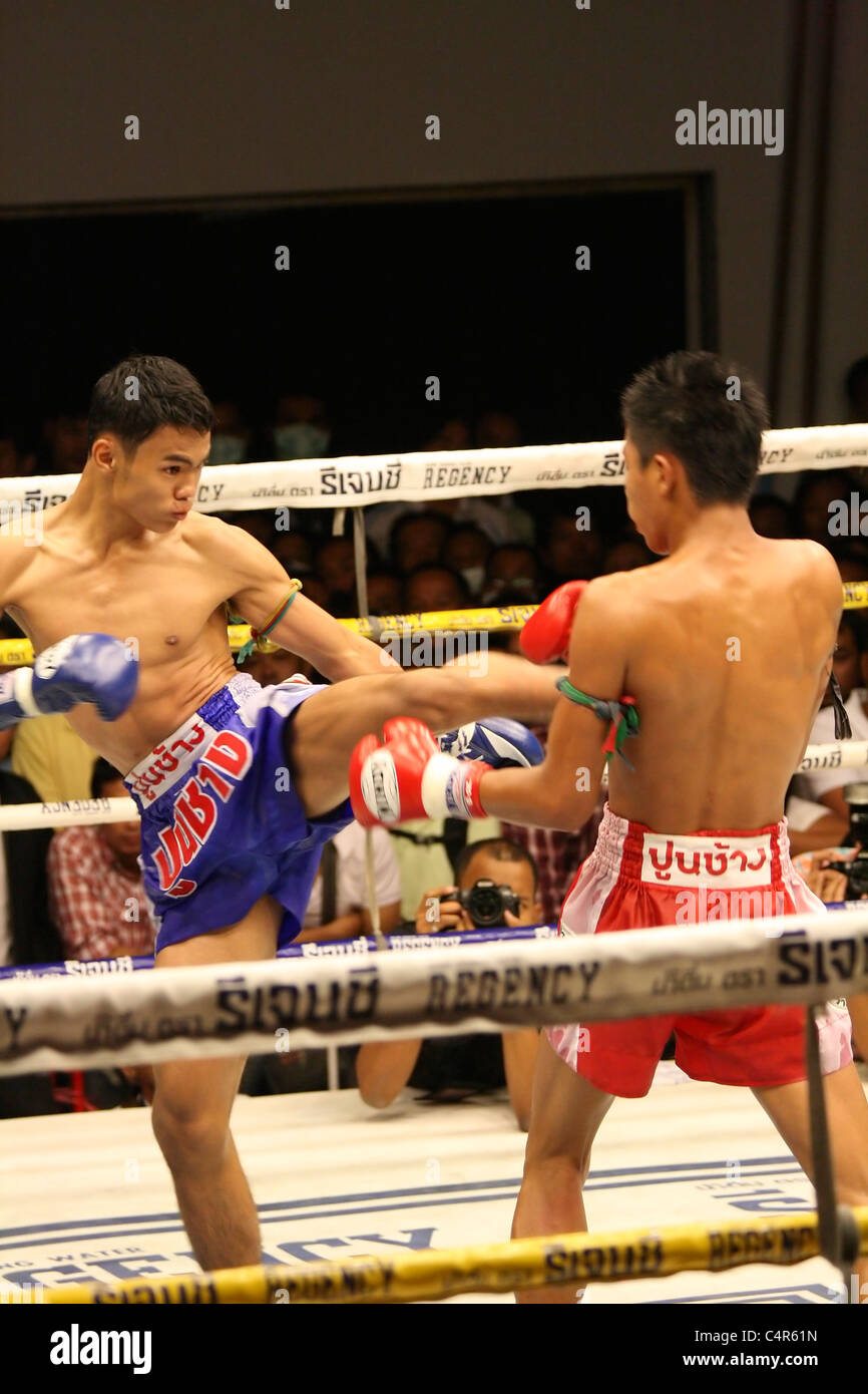 Thailand Thai Boxing competition - Stock Image
