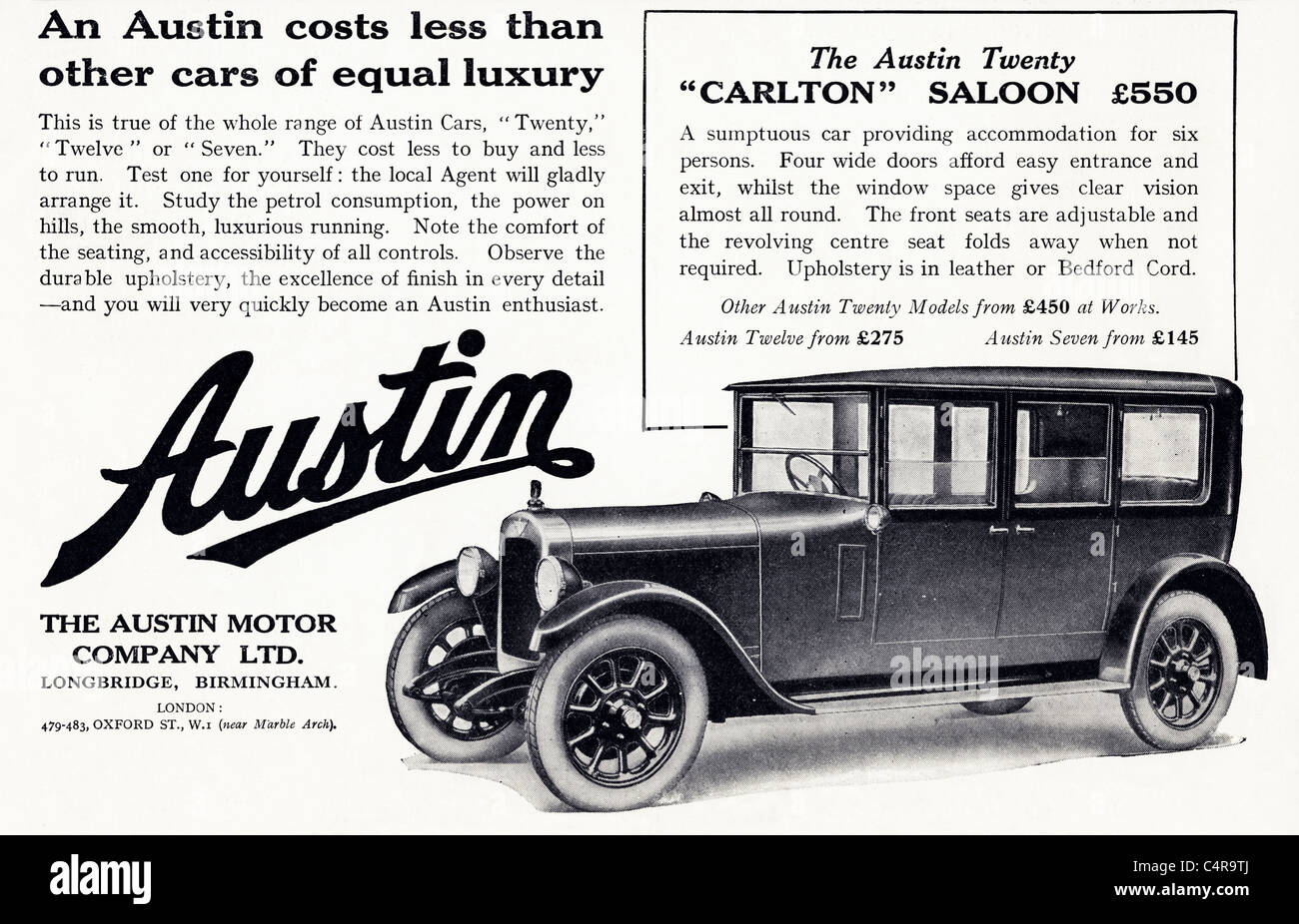 1920s Car Advertisement High Resolution Stock Photography And