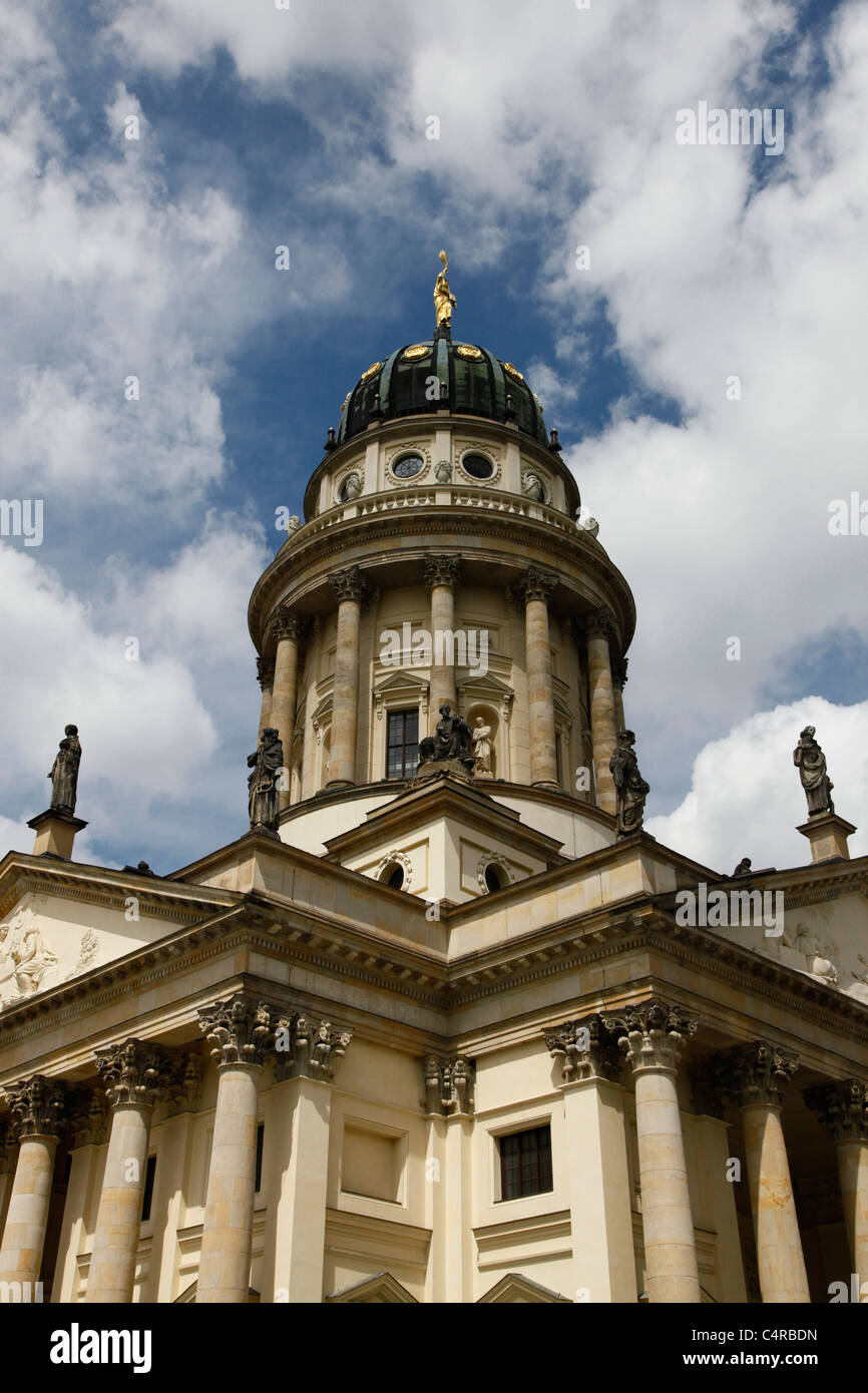 Exterior of the Franzosischer Dom The French church Huguenot or Hugenottenkirche in Berlin Germany - Stock Image