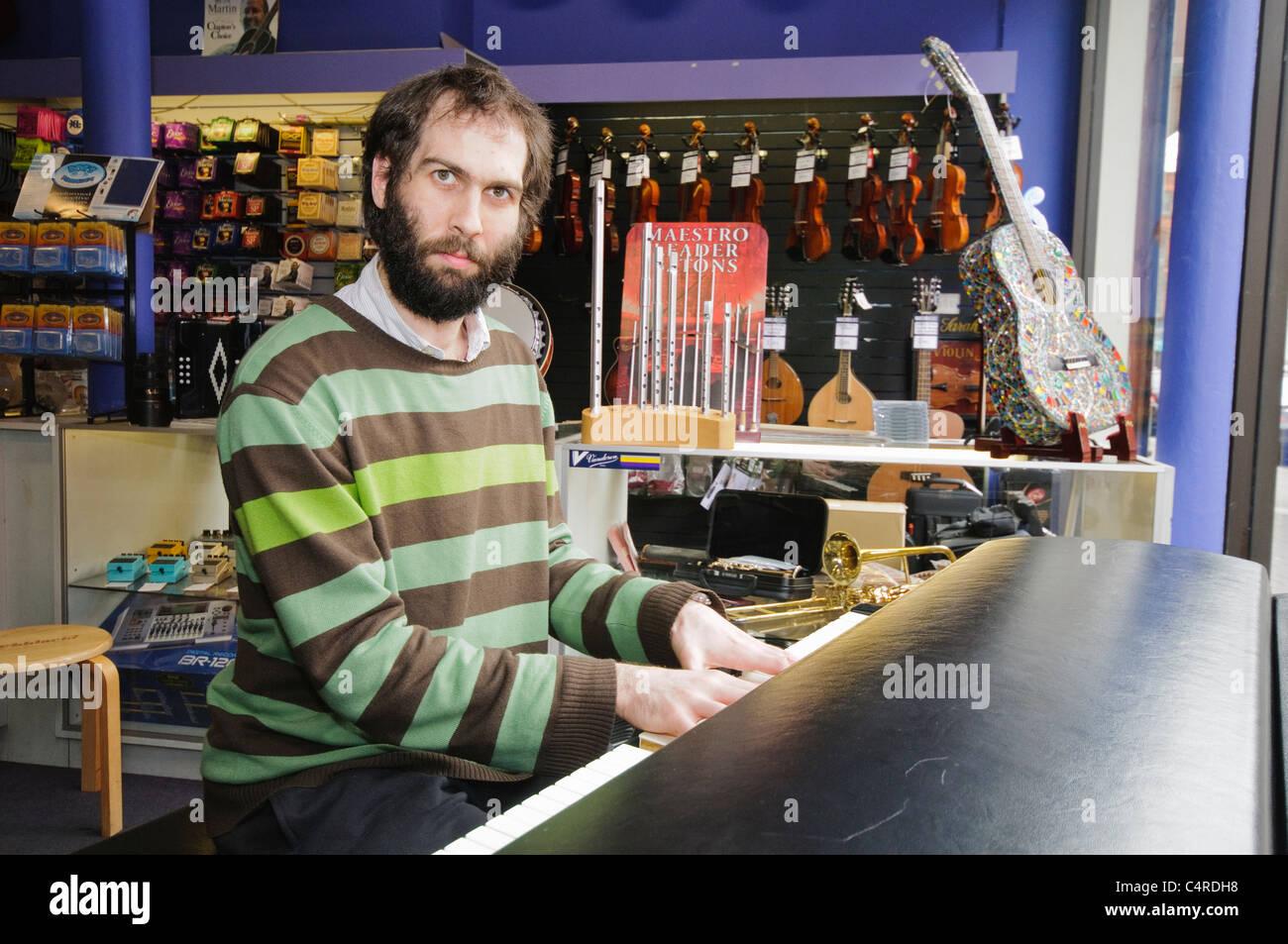 Matthew Bourne, pianist - Stock Image