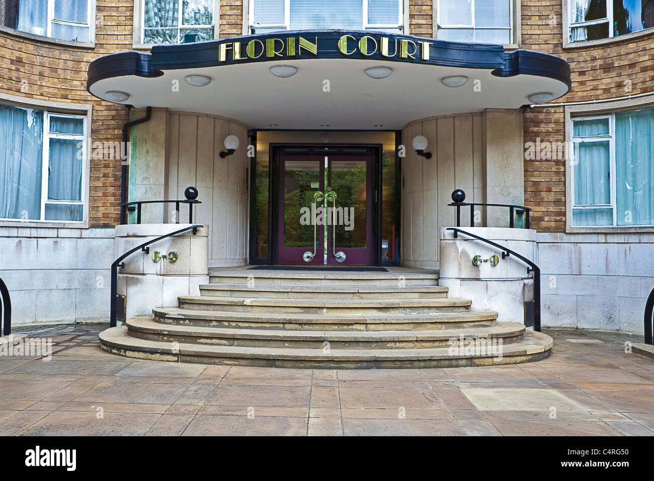 City of London, Charterhouse Square Poirot's Florin Court June 2011 - Stock Image