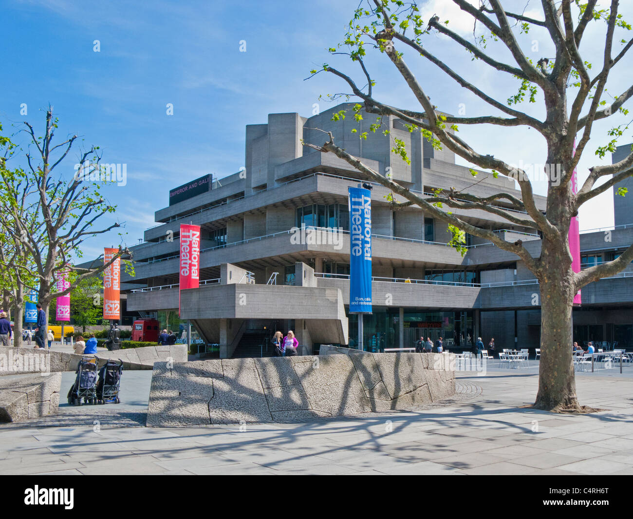 National Theatre, South Bank, London - Stock Image