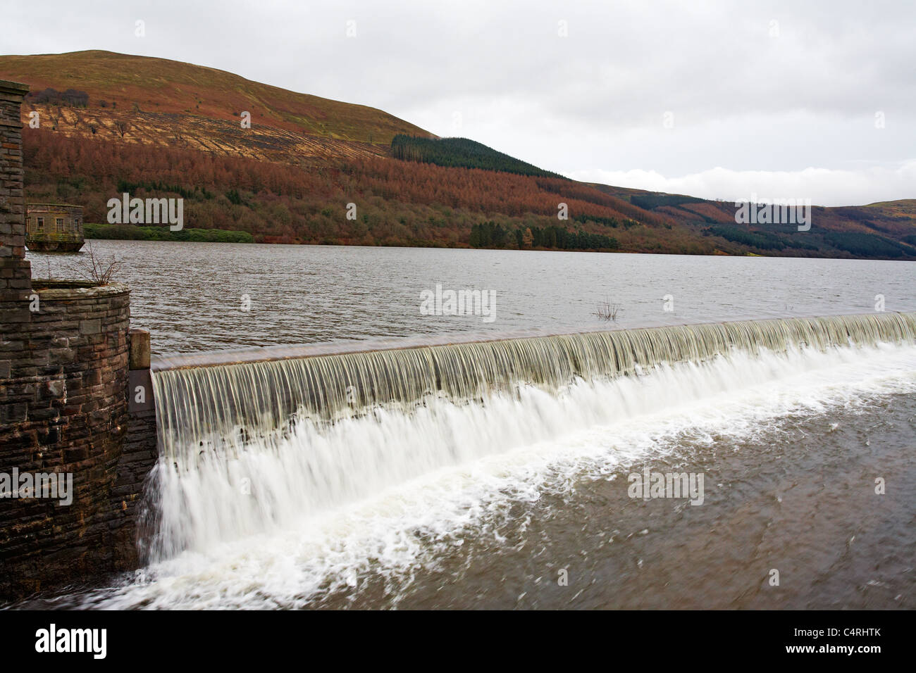 Talybont Reservoir, Brecon Beacons National Park, Wales - Stock Image