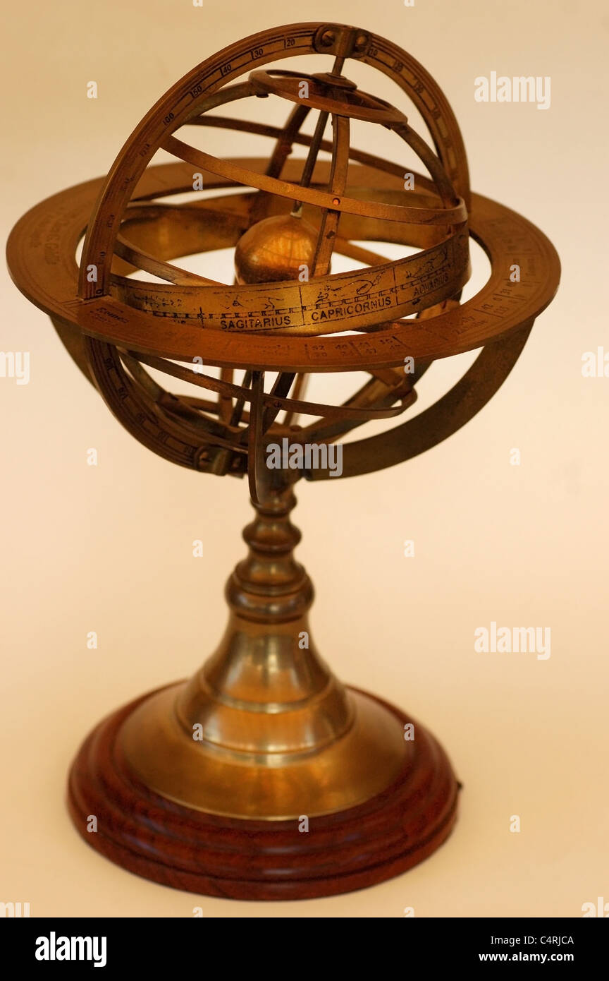 Orrery, astronomical and astrological instrument - Stock Image