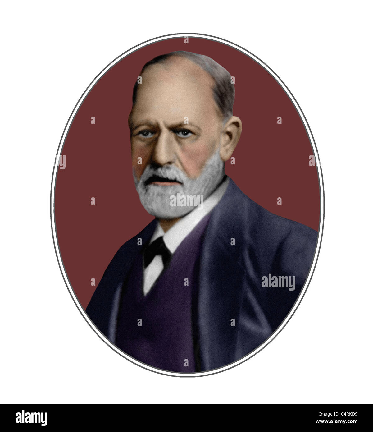 Sigmund Freud 1856 1939 Austrian Founder of Psychoanalysis Illustration - Stock Image