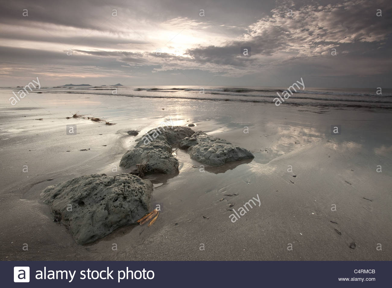Early morning at Punta Chame, Pacific coast, Panama province, Republic of Panama. - Stock Image