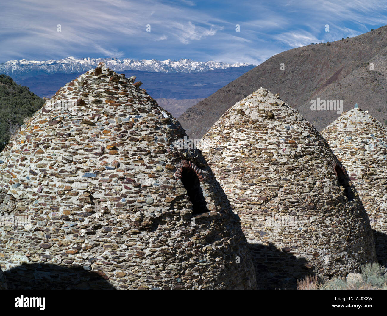 Charcoal kilns. Death Valley National Park, California - Stock Image