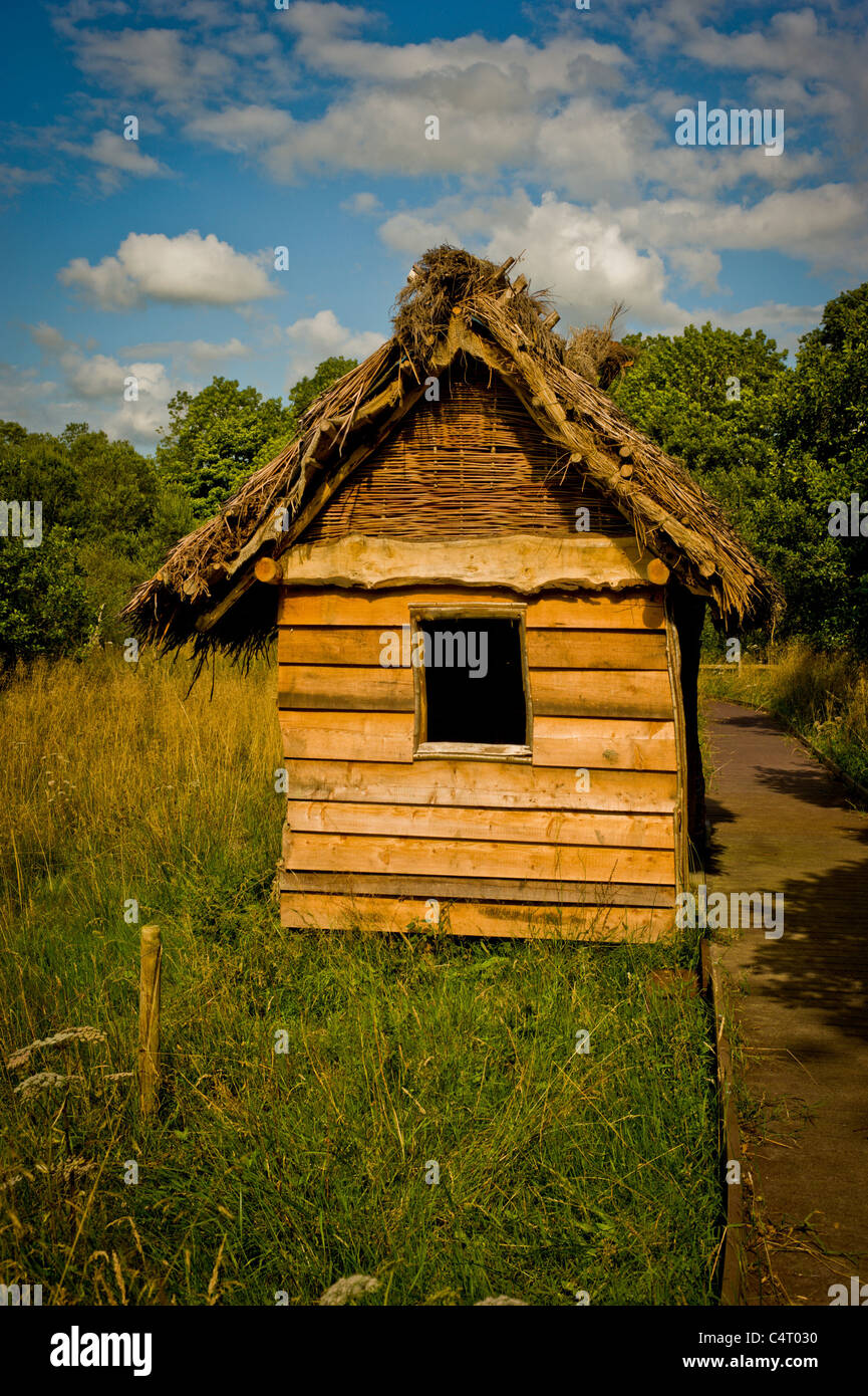 Norse Hide at Dubwath Silver Meadows Wetland Nature Reserve. - Stock Image