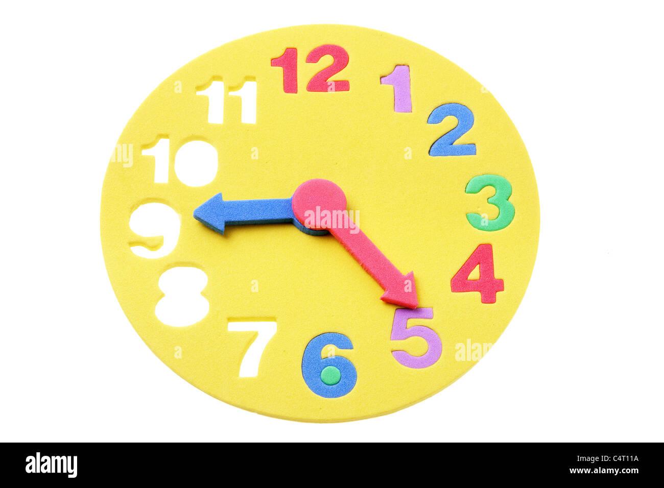 Toy Clock - Stock Image