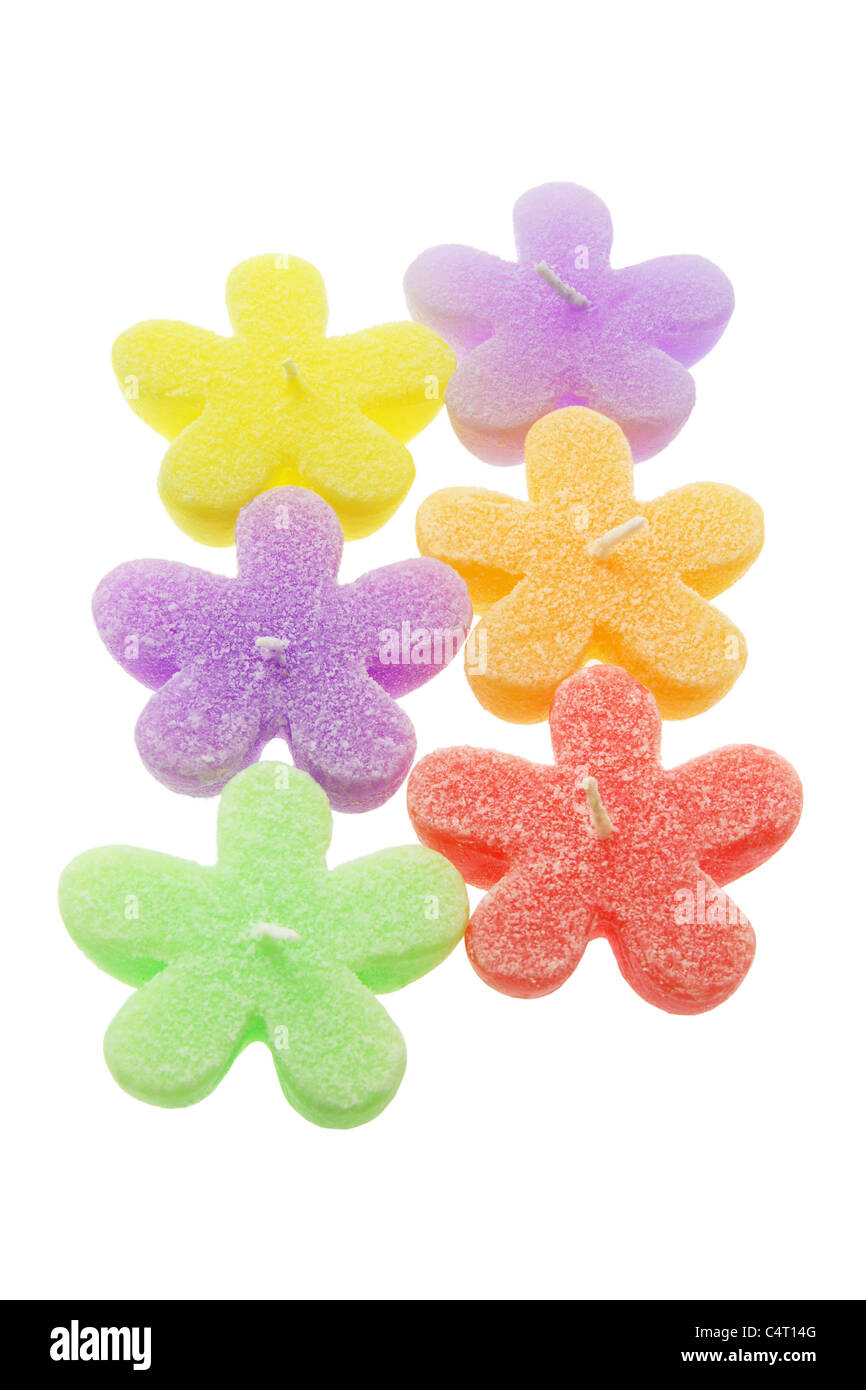 Color Star-Shaped Candles - Stock Image