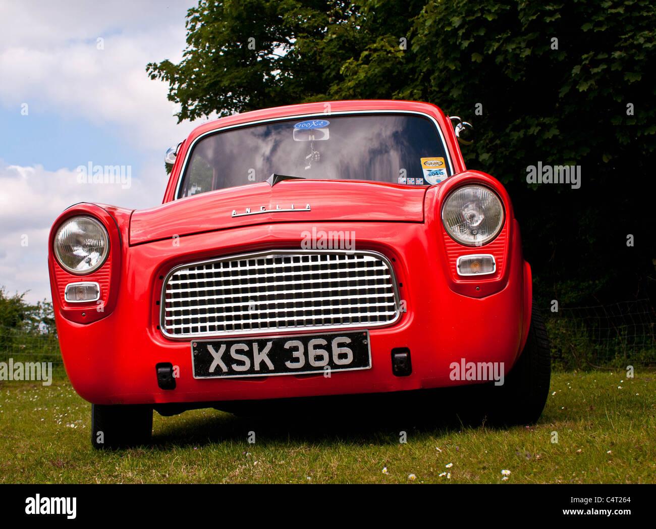 Renovated classic car 1959 Ford Anglia 100E - Stock Image
