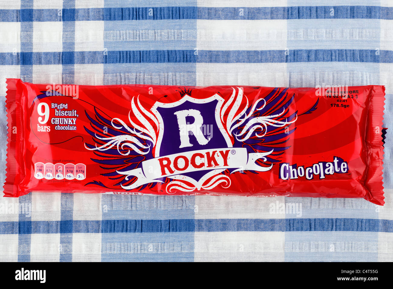 Multipack of 9 individually wrapped Rocky chocolate bars - Stock Image