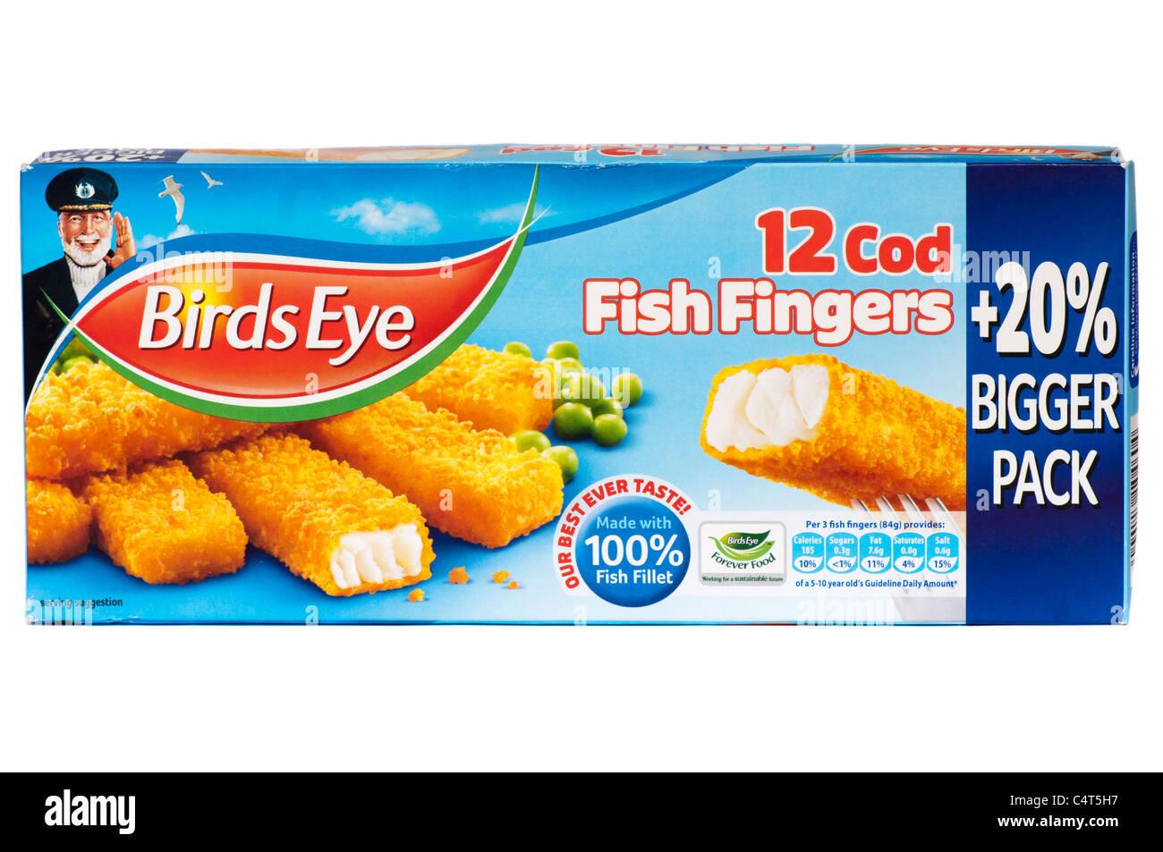 Box Of Birds Eye Fish Fingers Stock Image