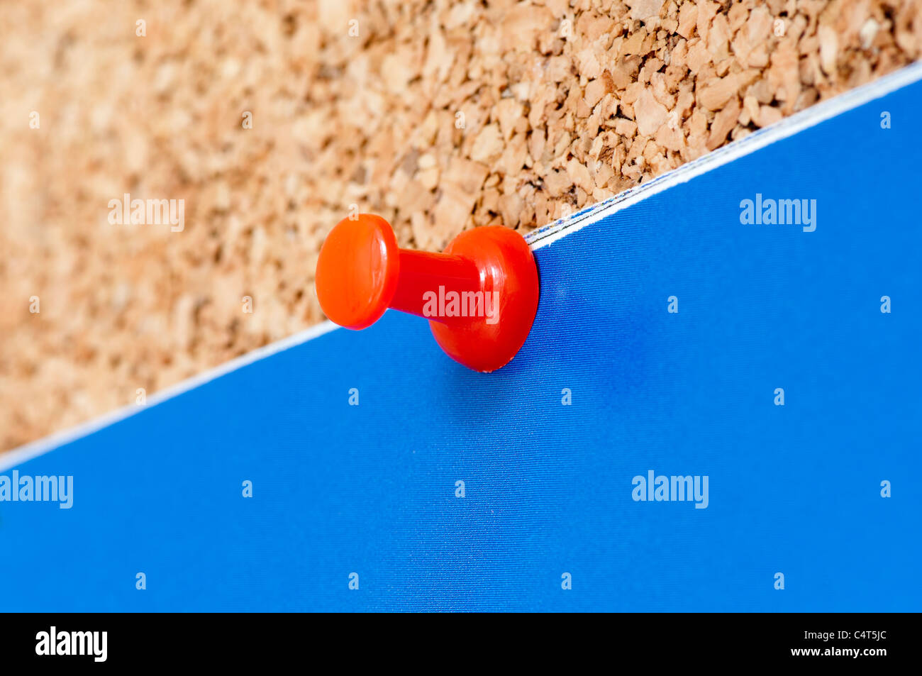 Red Plastic Noticeboard Pin - Stock Image