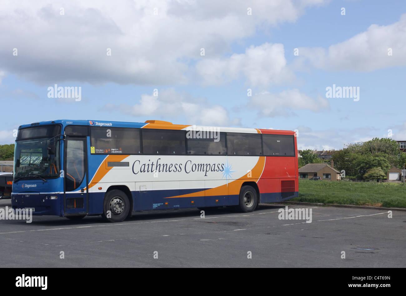 Caithness bus Thurso Scotland May 2011 - Stock Image