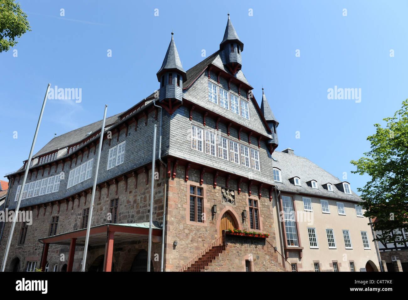 The Rathaus Fritzlar Hesse Germany Deutschland - Stock Image