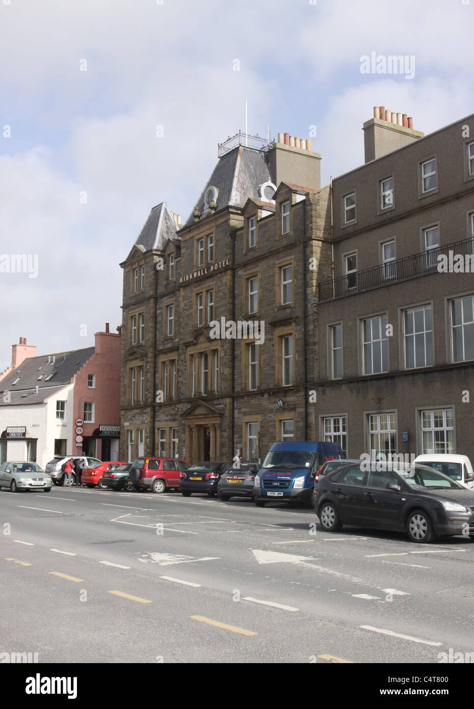 exterior of Kirkwall Hotel Orkney Scotland May 2011 - Stock Image