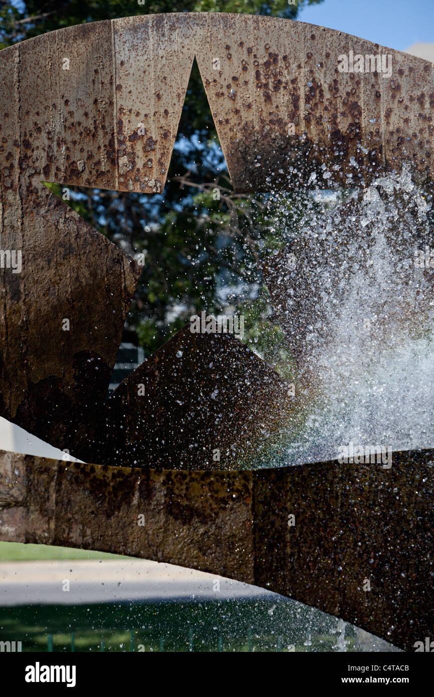Bicentennial Memorial Sculpture and Fountain at Auditorium Shores in Austin, Texas - Stock Image