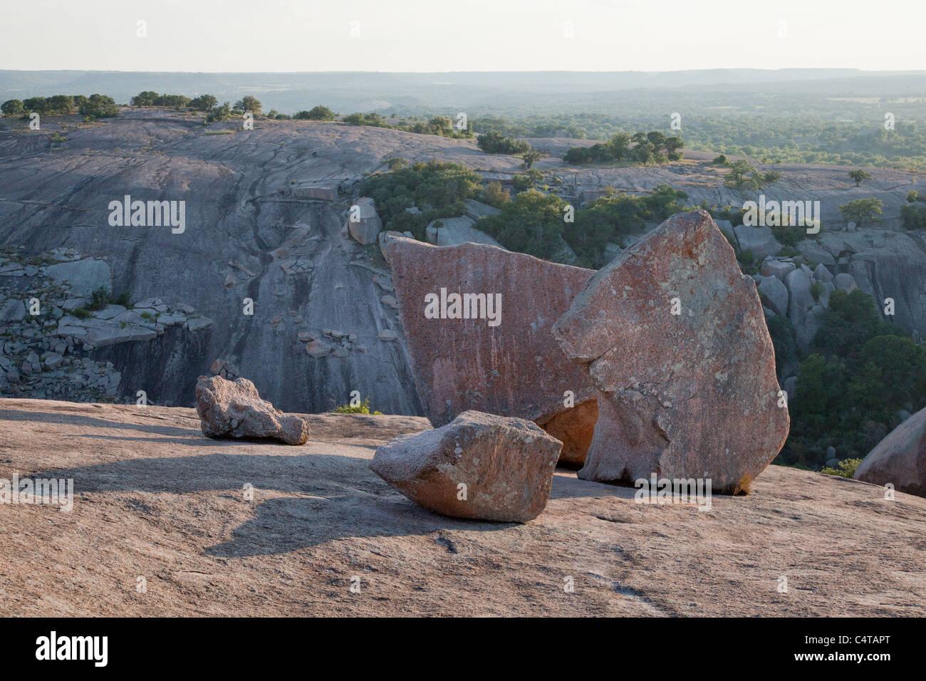 Enchanted Rock State Park near Austin and Fredericksburg, Texas - Stock Image
