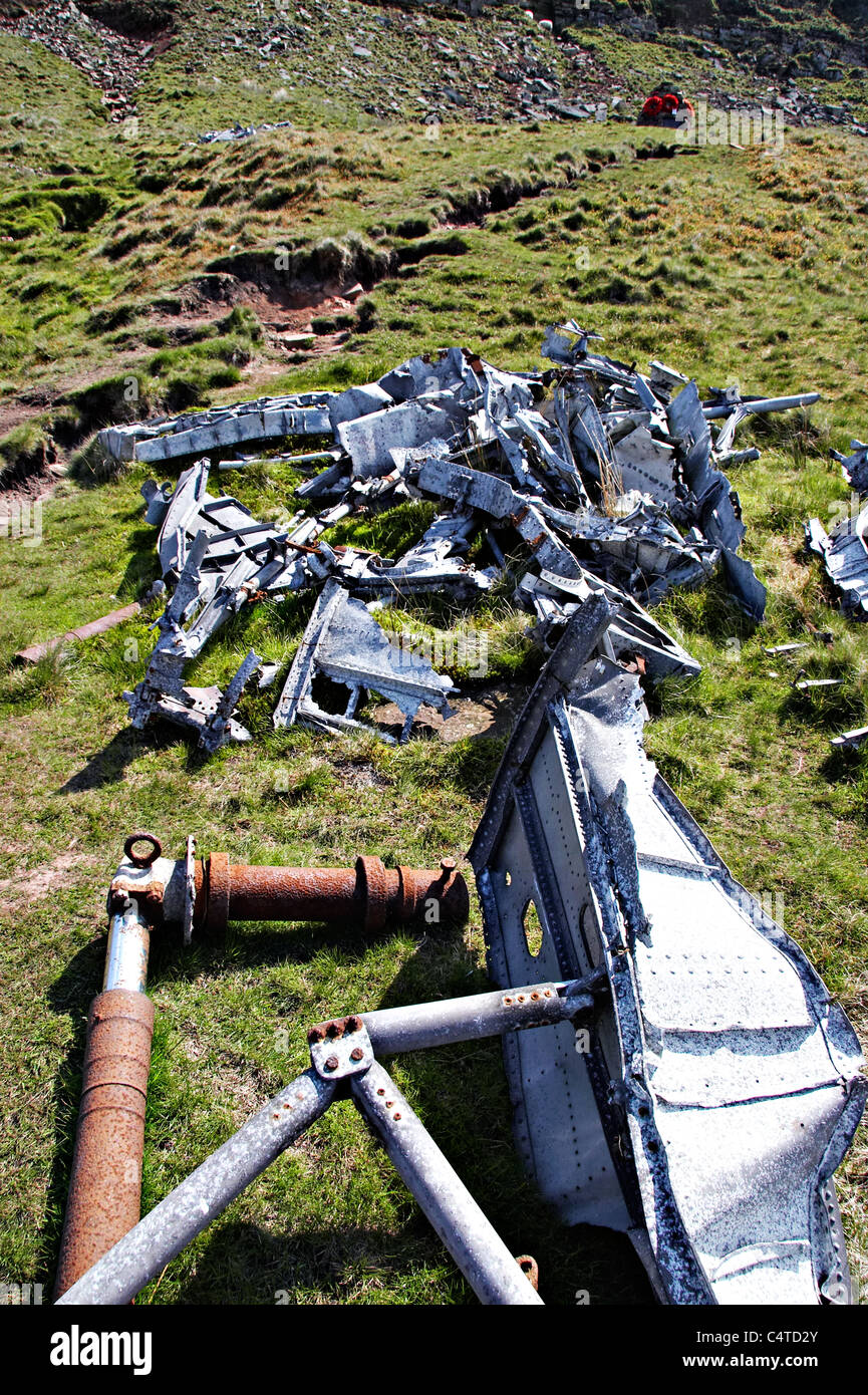 Plane Wreckage Stock Photos Images Alamy Crashed Aircraft Beacon Canadian Word War Ii On Waun Rydd Brecon Beacons National Park