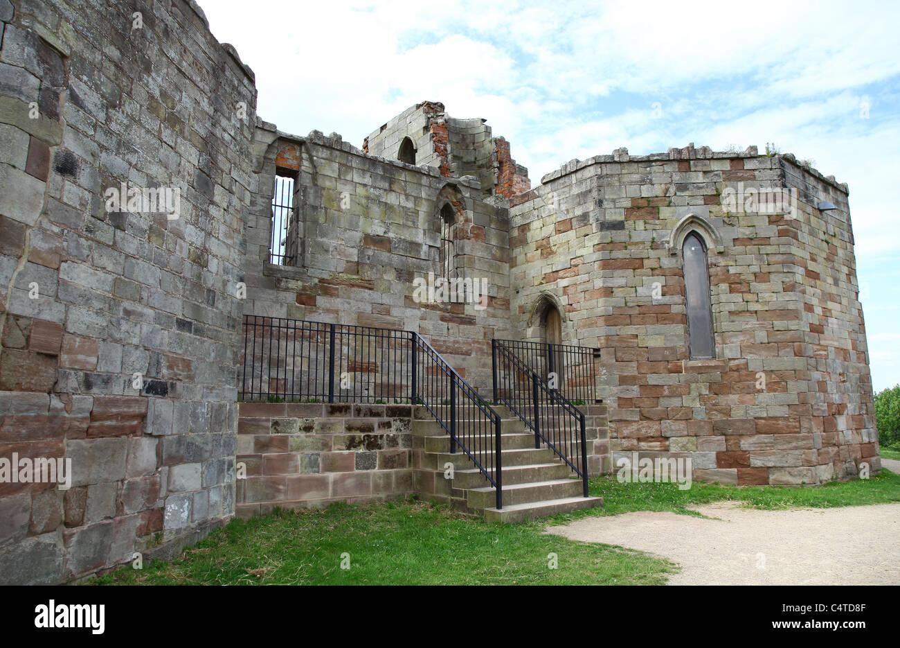 Stafford Castle, Stafford, Staffordshire, West Midlands, England, UK - Stock Image
