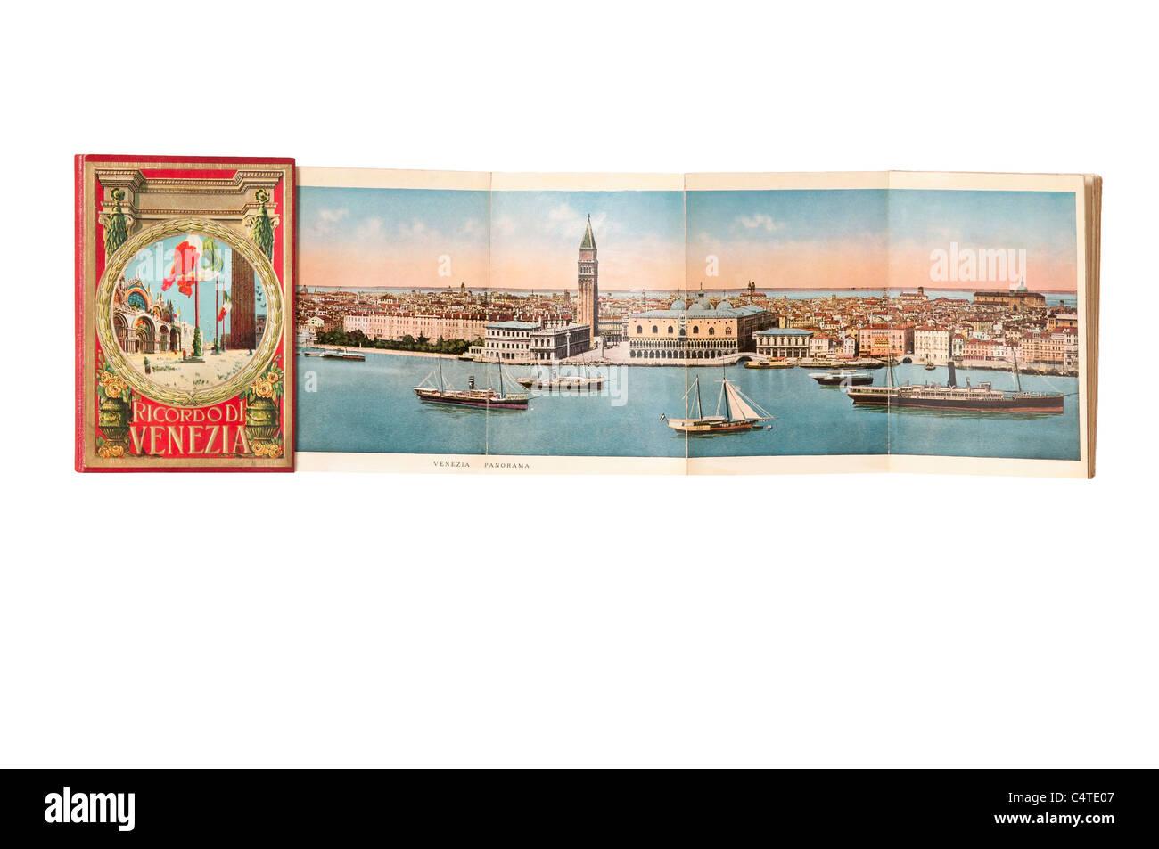 postcard folder of remembering from Venice early twentieth century - Stock Image