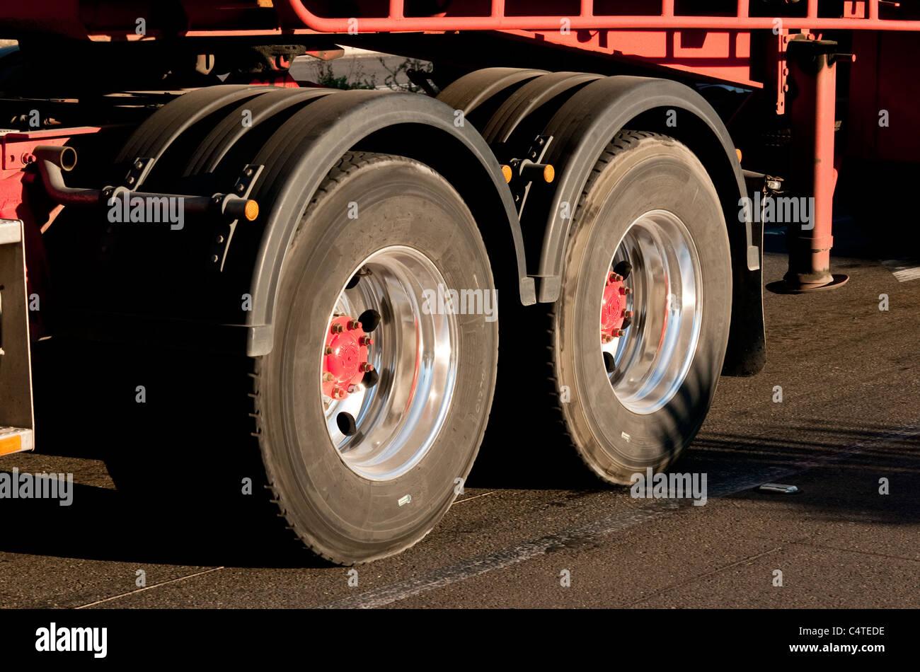 Double Rear Wheels Stock Photos & Double Rear Wheels Stock
