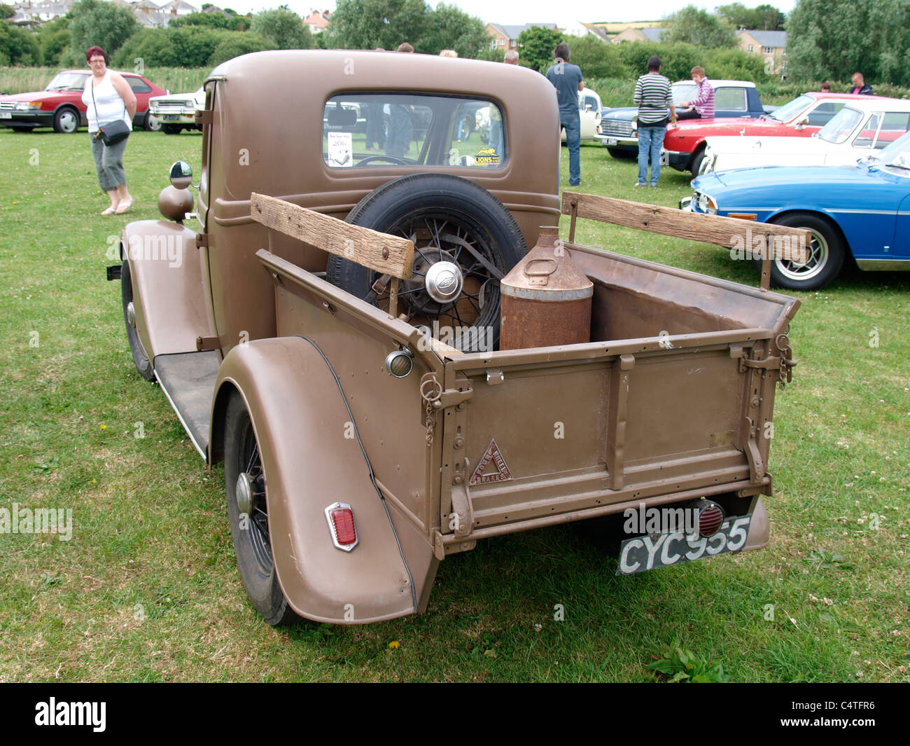 Vintage Ford Pick Up Truck Stock Photos 1941 Grain Bude Car Show Cornwall Uk Image
