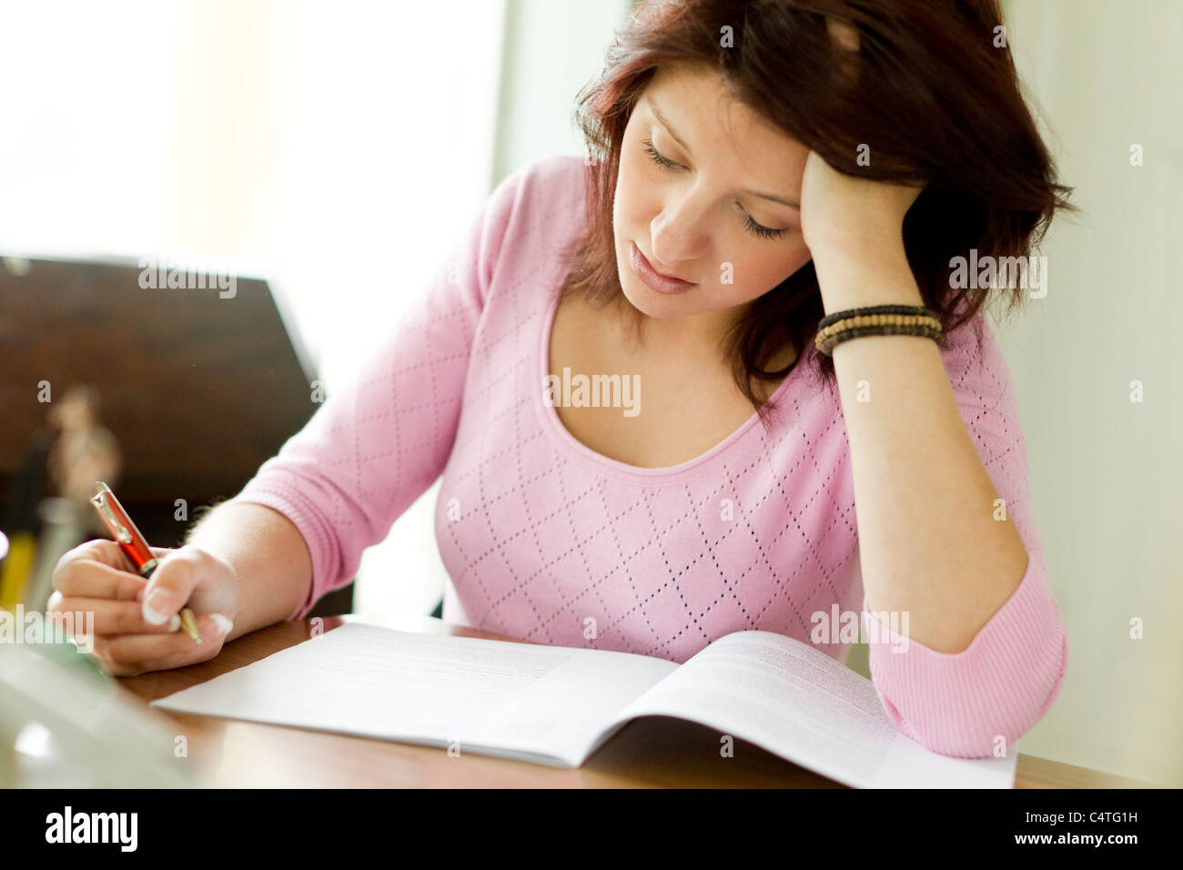 Woman writing letter stock photo 37418797 alamy woman writing letter publicscrutiny Gallery