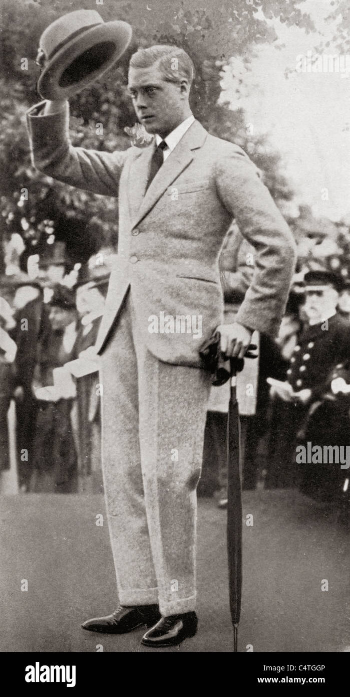 The Prince of Wales, later King Edward VIII, during his visit to Australia in 1920. - Stock Image