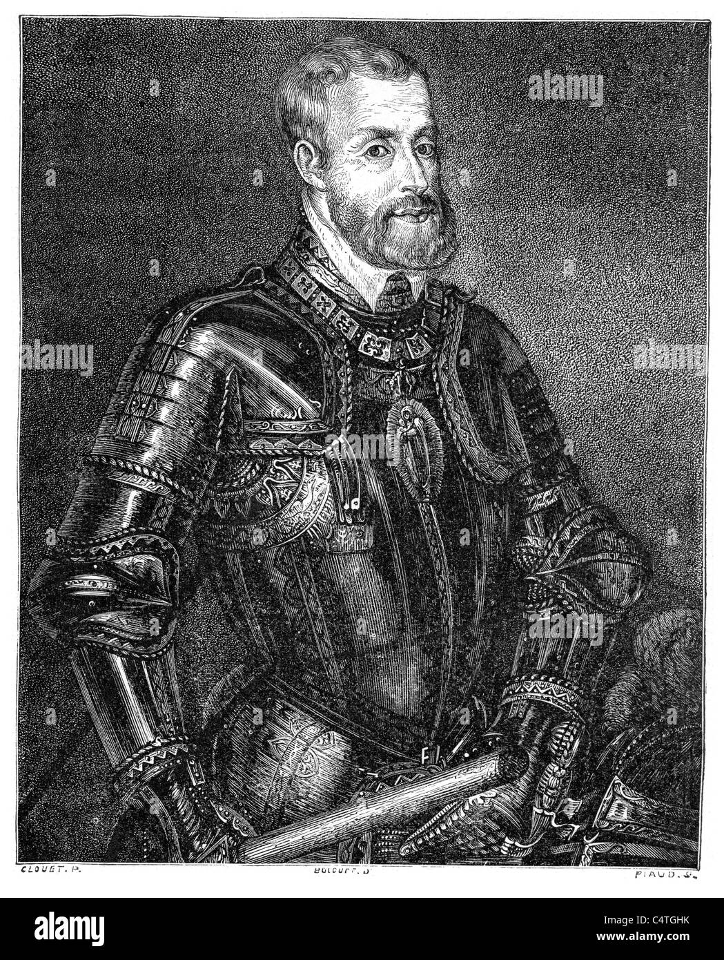 Charles V, Holy Roman Emperor ruler of the Holy Roman Empire from 1519 and, as Charles I, of the Spanish Empire - Stock Image