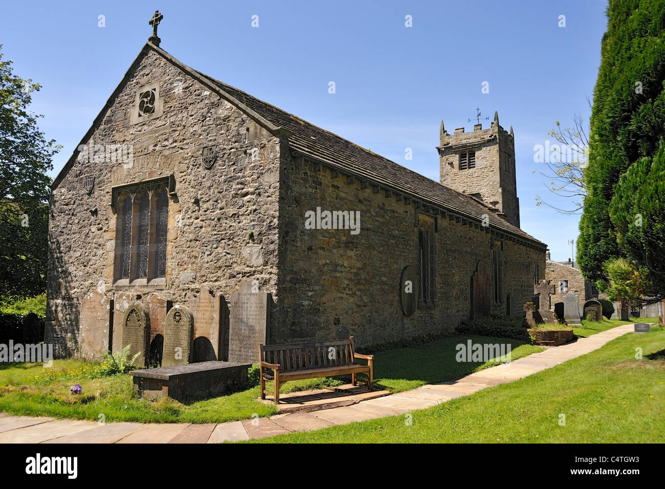 St. Mary the Virgin Church, Muker, Swaledale, Yorkshire, England - Stock Image